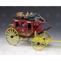 SCATOLA MONTAGGIO DILIGENZA STAGE COACH - OLD WEST 1:10