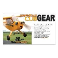 Robart - 1/3 Scale CUB Gear - CARRELLO IN SCALA PER PIPER J3 CUB Scala 1/3
