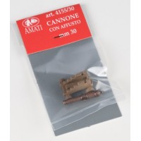 CANNONE CON AFFUSTO IN PLASTICA MM.30