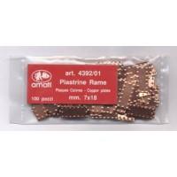 PIASTRINE RAME BUGNATE 8X18