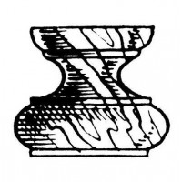 PIEDINI LEGNO N.7 - ALT. MM.22