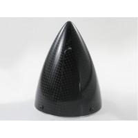 """Ogiva in carbonio con piattello in alluminio lavorato al CNC - NO LIMITZ diametro: 90 mm (3.5"""") - lunghezza: 115mm - TIPO ULTIMA"""