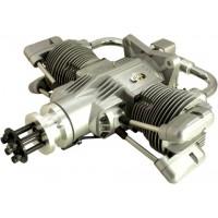 SAITO FG-100TS TWIN Gasoline Engine (4Tempi Benzina) CON CENTRALINA E SCARICHI FLESSIBILI