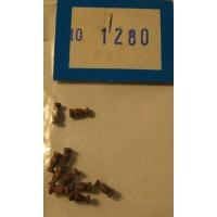 EURONAVI - COLONNINE IN LEGNO MM.6 (10 PZ)