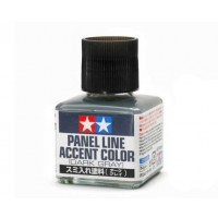 TAMIYA - PANEL ACCENT LINE Dark Gray - VERNICE PER ACCENTUARE I DETTAGLI (40ml)                                                .
