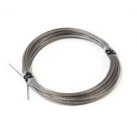 Pull-Pull Wire dia:0.75mm (nylon coated) 10mt - Cavo in acciaio ricoperto in nylon per tiranteria - d:0.75mm - Lunghezza: 10m  .