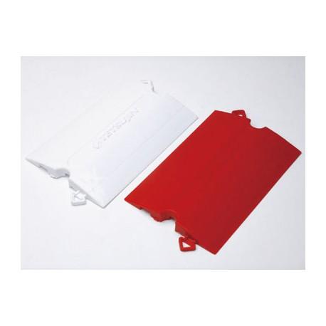 "TEAM-TETSUJIN - Track KERBS System ""Straight"" 50pcs (RED & WHITE Half) Made in Japan - SISTEMA DI CORDOLI PER PISTA          ..."