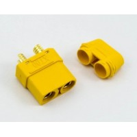 XT90 CONNECTOR FEMALE - CONNETTORE XT90 FEMMINA (1Pz)                                                                          .