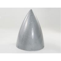 """Ogiva in fibra SILVER con piattello in alluminio lavorato al CNC - NO LIMITZ - D:90mm (3.5"""") - Lunghezza:115mm - TIPO ULTIMATE"""