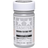 TAMIYA - FONDO PER DIORAMA CEMENTO - Diorama Texture Paint - Pavement Effect LIGHT GRAY 100ml