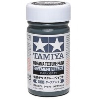 TAMIYA - FONDO PER DIORAMA ASFALTO - Diorama Texture Paint - Pavement Effect DARK GRAY 100ml