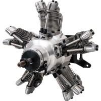 SAITO FG-73R5 RADIAL Gasoline Engine (4Tempi Benzina) CON CENTRALINA E SCARICHI FLESSIBILI                                     .