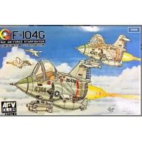 """AFV CLUB - """"Q-SCALE"""" F-104G Starfighter ROC AIR FORCE - CARICATURA F-104  (2 kits) #AFQS04                                   ..."""