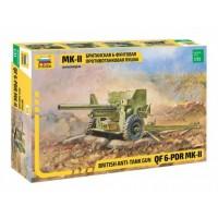 ZVEZDA - 1/35 BRITISH ANTI TANK GUN QF 6 PDR MK II