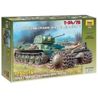ZVEZDA - 1/35 T-34/76 SOVIET TANK W/MINE ROL