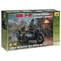 ZVEZDA - 1/35 GERMAN WWII SIDECAR R12