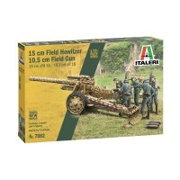 ITALERI - 1/72 15cm Field Howitzer 10,5cm Field Gun