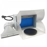 FENGDA - Cabina di verniciatura con piatto girevole e filtro particolato. Estremamente silenziosa. Capacità di aspirazione 4...