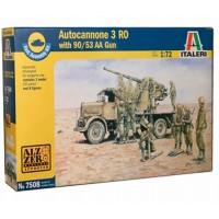 ITALERI - 1/72 AUTOCANNONE R03 w/90 53 AA GUN