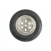 """4"""" Air Inflatable Wheel w/aluminum hub and ball bearigs (1pc.) - RUOTA GONFIABILE CON BATTISTRADA RIGATO E CERCHIO IN ALLUMINIO"""