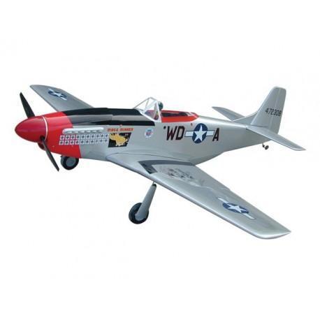 P-51D Mustang - GS - 160 (RIDGE RUNNER) con carrelli retrattili - Ap.alare (mm) 2040 - L. fusoliera (mm) 1790 - Peso (g) 6800