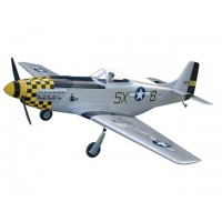 P-51D Mustang - GS - 160 (DOUBLE TROUBLE) con carrelli retrattili - Ap.alare (mm) 2040 - L. fusoliera (mm) 1790 - Peso (g) 6800