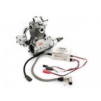 SAITO FG-21 Gasoline Engine (4Tempi Benzina) CON CENTRALINA, CASTELLO MOTORE IN ALLUMINIO E SILENZIATORE