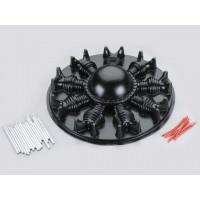 Dummy Radial Engine 7 cylinders (black) - COPRI MOTORE IN ABS NERO RIPRODUCENTE MOTORE STELLARE 7 CILINDRI - completo degli acce