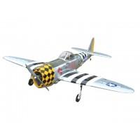 P-47D THUNDERBOLT Scala 1/7 con carrelli retrattili - Ap.alare (mm) 1780 - L. fusoliera (mm) 1580 - Peso (g) 4850