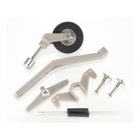 "DUBRO - Semi-Scale Tail Wheel System Size 40-90 - Length: 4.875"" (123.82mm) - Height: 2.75"" (69.85mm) - Wheel Diameter: 1.1875"""