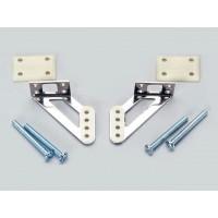 """Sullivan - Steel Control Horn 3/4"""" Left/Right - SQUADRETTE IN ACCIAIO PER PARTI MOBILI CON BOCCOLA IN PTFE H: 19mm (1set - Dx/Sx"""