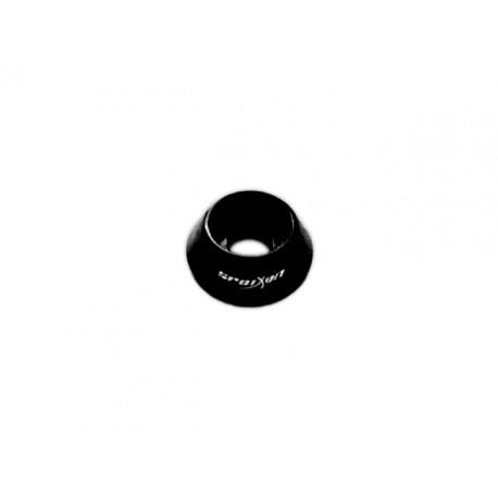 Washers - Cap Bolt M4, #8-32 (10Pcs.) - RONDELLE COPRIBULLONE BOMBATE IN ERGAL ANODIZZATE NERO - FORO M4, #8-32 (10Pz)