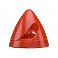 """DUBRO - 1-9/16"""" (40mm) Electric Spinner Red - OGIVA PER ELETTRICO CON MORSETTO PER ALBERO MOTORE DA 3mm - Diametro ogiva: 40mm -"""