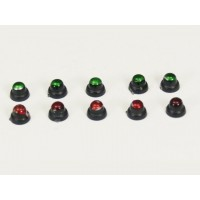 Set of control lights (10 pcs) - SET SRUMENTI PER COCKPIT SCALA 1/5