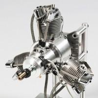 SAITO FG-60 R3 Radial Gasoline Engine (4Tempi Benzina) CON CENTRALINA E SCARICHI FLESSIBILI