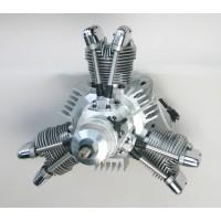 SAITO FG-84 R3 Radial Gasoline Engine (4Tempi Benzina) CON CENTRALINA E SCARICHI FLESSIBILI