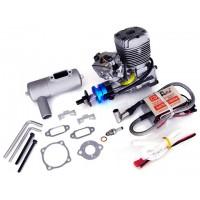 NGH Engines - GT17 - (2Tempi Benzina) CON CENTRALINA, SILENZIATORE E CANDELA - ULTIMA VERSIONE PRODOTTA