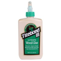 Titebond III, Ultimate Wood Glue, waterproof,  highest strength (237ml) made in USA                                            .