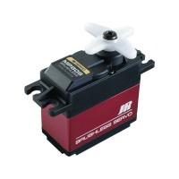 SERVO BRUSHLESS MP80S (forza: 12,0Kg*cm /4,8V - velocità: 0,09 s/60° - peso: 69g) ingranaggi in metallo su cuscinetti, cassa con