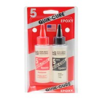 QUIK-CURE 5 MIN. EPOXY (113.6g) Made in USA