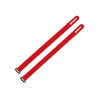 RECEIVER STRIP RED - FASCETTA VELCRO JRPROPO ROSSA PER FISSAGGIO RICEVENTI E BATTERIE 21mm X 230mm (2Pz)