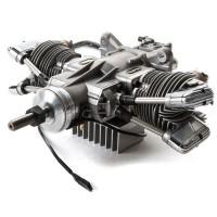 SAITO FG-61TS TWIN Gasoline Engine (4Tempi Benzina) CON CENTRALINA E SCARICHI FLESSIBILI
