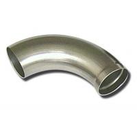CURVA 90° ACCIAIO INOX PER COLLETTORE SCARICO - RAGGIO:33mm  D:20x0.5mm CON IMBUETTAGGIO