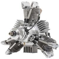 SAITO FG-90 R3 Radial Gasoline Engine (4Tempi Benzina) CON CENTRALINA E SCARICHI FLESSIBILI
