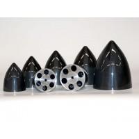 MEJZLIK - Ogiva in carbonio con piattello in alluminio lavorato al CNC - diametro: 114mm - lunghezza: 140mm - peso: 85g