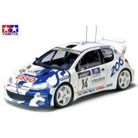 TAMIYA - AUTO PEUGEOT 206 WRC 1:24