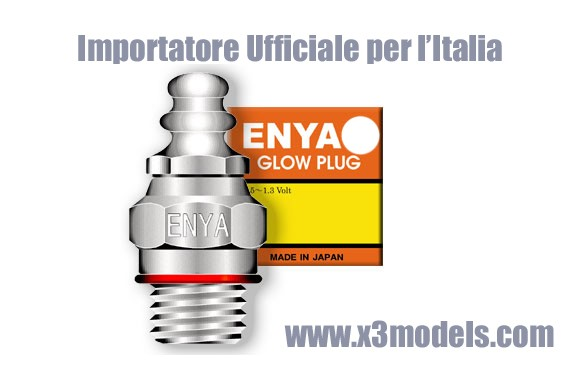 Importatore ufficiale per l'Italia Enya, enya glow plug, candele enya